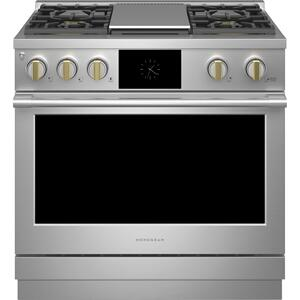 """MonogramMonogram 36"""" Dual-Fuel Professional Range with 4 Burners and Griddle (Natural Gas)"""