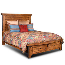 Product Image - King Size Headboard w/ Metal Accents - Rustic Collection