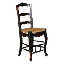 See Details - French Ladderback Counter Stool