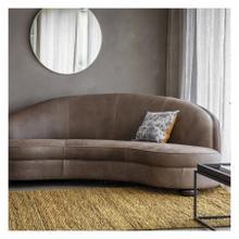 GA Sanza Sofa Granite Leather