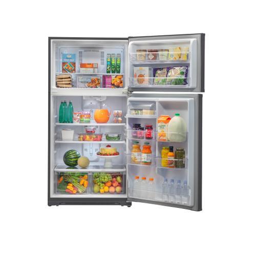 Winia - WINIA 18.2 Cu Ft - Garage Ready - 2 Door Top Freezer Refrigerator- VCM Silver