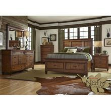 King Storage Bed, Dresser & Mirror, Chest, N/S