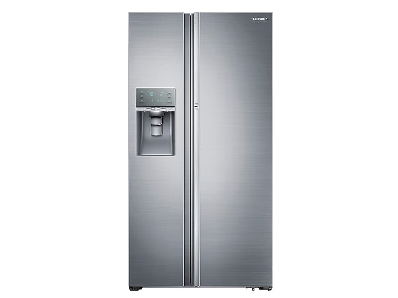 Samsung22 Cu. Ft. Food Showcase Counter Depth Side-By-Side Refrigerator With Metal Cooling In Stainless Steel