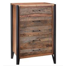 Hampshire 5 Drawer Chest With Black Metal