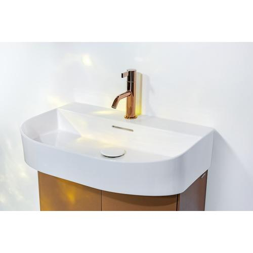 White Matte Vanity unit, 2 doors, matching washbasin 810342