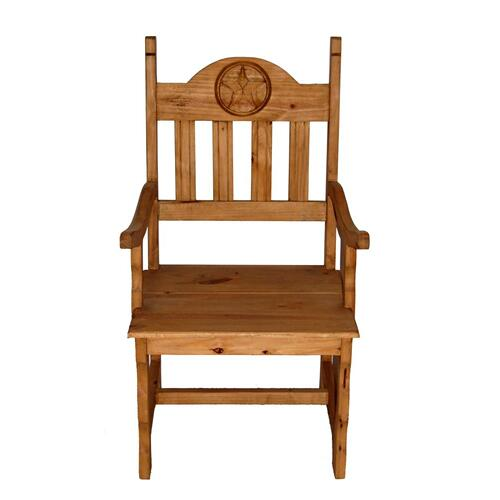 Wood Seat Star Arm Chair