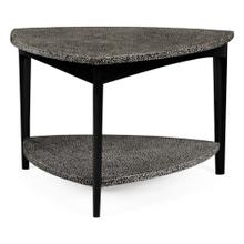 Black Snakeskin triangular coffee table