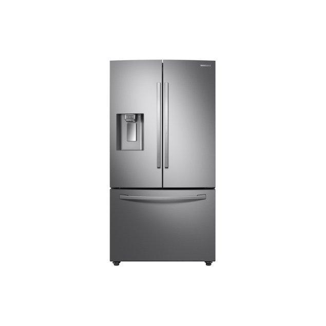 Samsung Appliances 23 cu. ft. Counter Depth 3-Door French Door Food Showcase Refrigerator in Stainless Steel