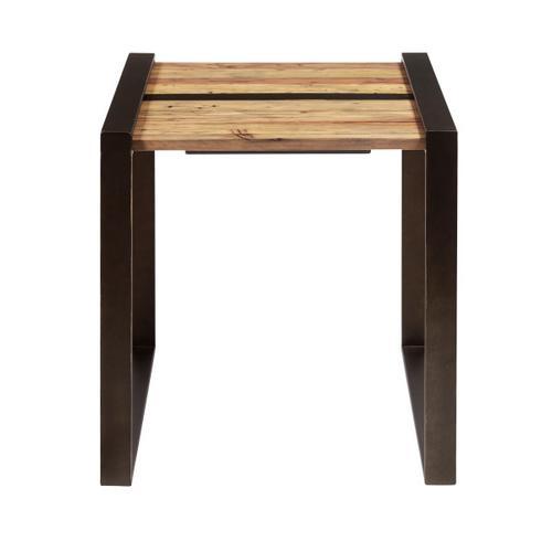 Reclaimed Wood & Metal End Table