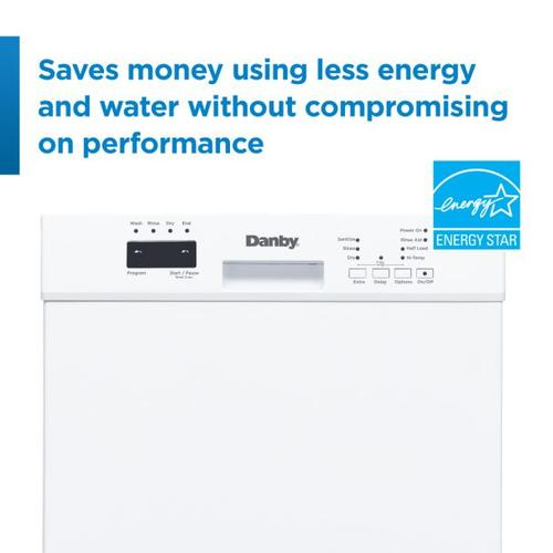 Danby - Danby 18 Built-in Dishwasher with Front Controls (White)