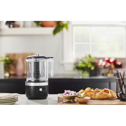 Cordless 5 Cup Food Chopper - Black Matte