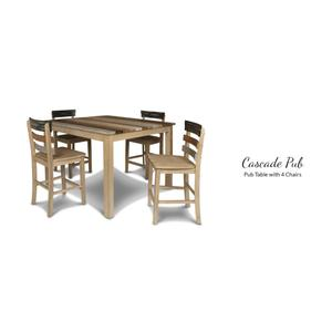 American Wholesale Furniture - Pub Table with 4 Chairs