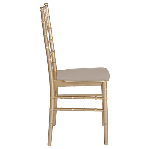 Flash Furniture - HERCULES Series Gold Resin Stacking Chiavari Chair