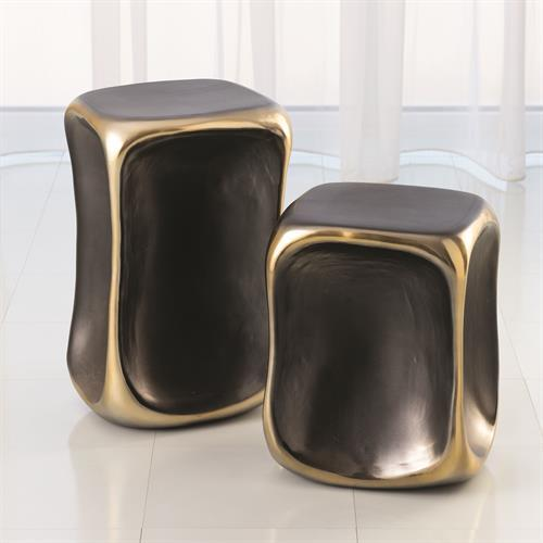 Formation Accent Table-Black/Gold-Lg