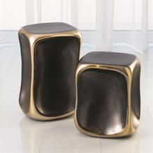 Formation Accent Table-Black/Gold-Sm