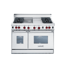 "48"" Gas Range - 4 burners, Charbroiler, Griddle"