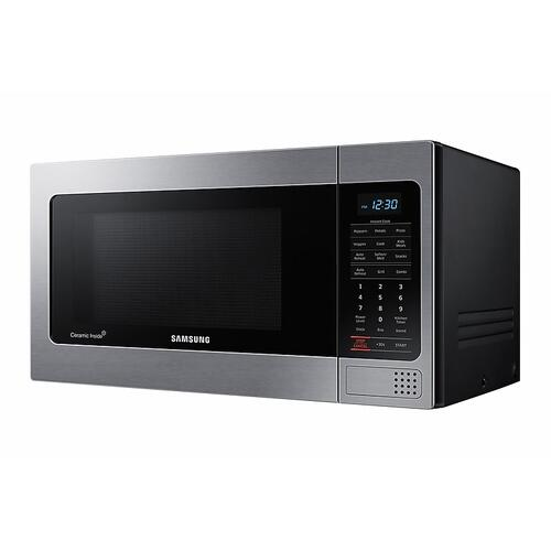 1.1 cu. ft Countertop Microwave with Grilling Element in Stainless Steel