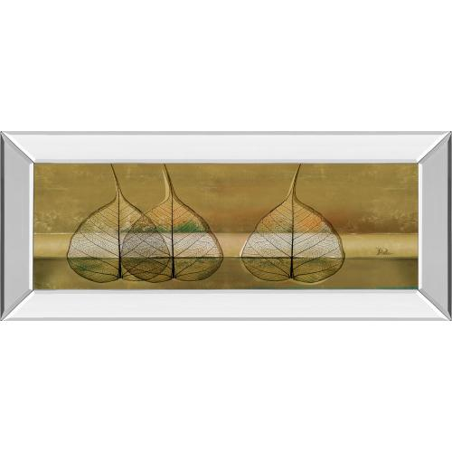 """Classy Art - """"Less Is More IV"""" By Patricia Pinto Mirror Framed Print Wall Art"""