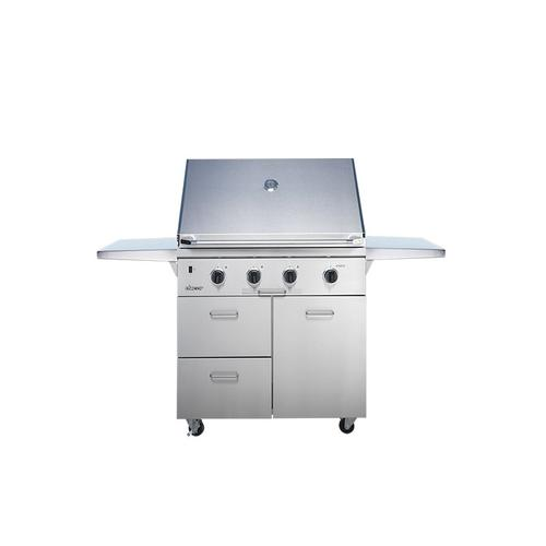 """36"""" Outdoor Grill with Infrared Sear Burner, Stainless Steel, Natural Gas"""