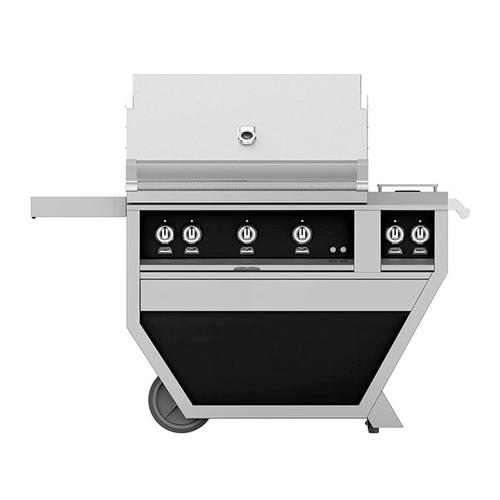 "36"" Hestan Outdoor Deluxe Grill with Double Side Burner - G_BR__CX_ Series - Stealth"