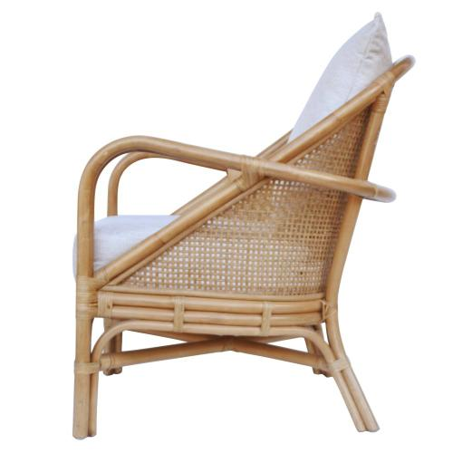Whitney Rattan Accent Arm Chair, Canary Brown