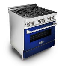 ZLINE 30 in. Professional Dual Fuel Range with Blue Gloss Door (RA-BG-30)