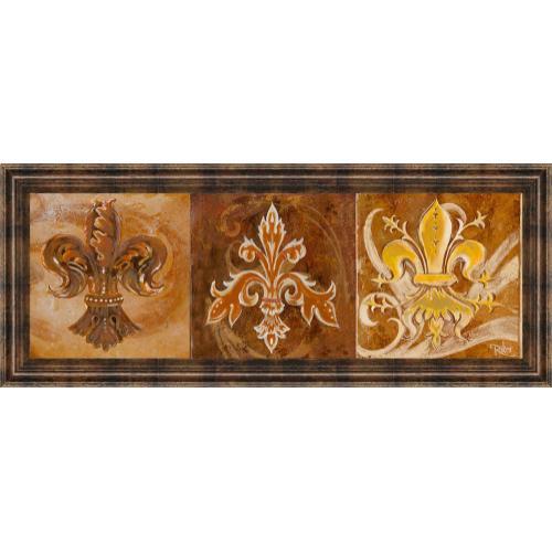 """Fleur De Lis Trio Il"" By Thomas Riker Framed Print Wall Art"