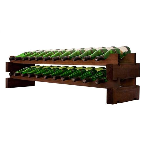 2 x 11 Bottle Modular Wine Rack (Stained)