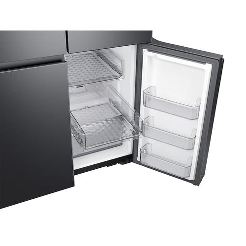 Samsung - 29 cu. ft. Smart 4-Door Flex™ refrigerator with AutoFill Water Pitcher and Dual Ice Maker in Black Stainless Steel