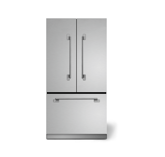 """AGAAga Elise 36"""" French Door Refrigerator, Stainless Steel"""