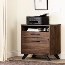 Helsy - 2-Drawer File Cabinet, Natural Walnut