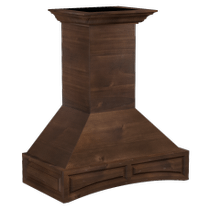ZLINE 48 in. Wooden Wall Mount Range Hood in Walnut - Includes Remote Motor