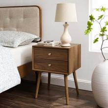 See Details - Ember Wood Nightstand With USB Ports in Walnut Walnut