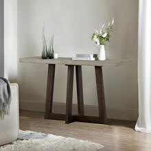 See Details - Elodie Grey Concrete and Dark Grey Oak Rectangle Console Table