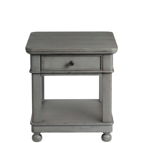 Bella Grigio - Square Side Table - Chipped Gray Finish