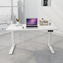 Hanover 55-In. Assembled Sit or Stand Electric Desk with Adjustable and Programmable Heights, White, HSD0421-WHT