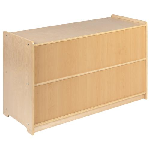 """Flash Furniture - Wooden 5 Section School Classroom Storage Cabinet for Commercial or Home Use - Safe, Kid Friendly Design - 24""""H x 36""""L (Natural)"""