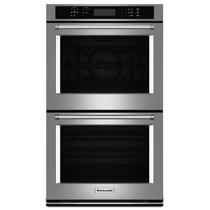 "KitchenAid27"" Double Wall Oven with Even-Heat™ True Convection (Upper Oven) - Stainless Steel"