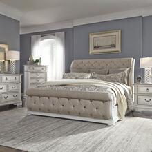View Product - King Uph Sleigh Bed, Dresser & Mirror, Chest, Night Stand