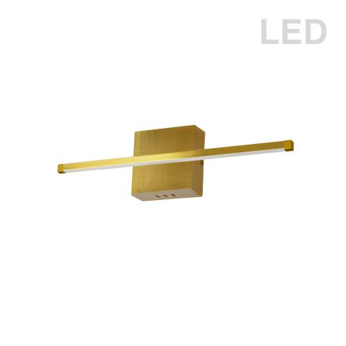19w Wall Sconce Agb W/wh Acrylic Diffuser
