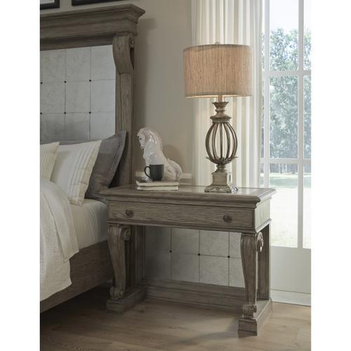 Ella Bedside Table in Gray