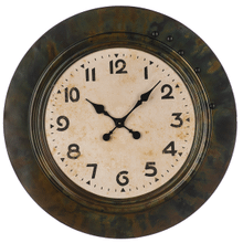 Oil Rubbed Bronze Framed Wall Clock. Includes 5 Magnets.