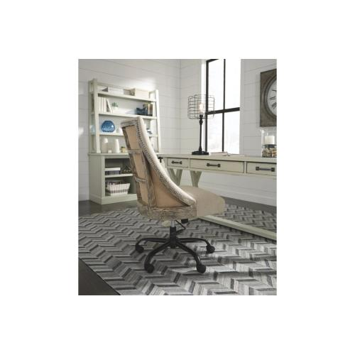 Jonileene Home Office Large Leg Desk White/Gray