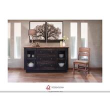 See Details - 3 Drawers, 2 doors Console - Black Finish