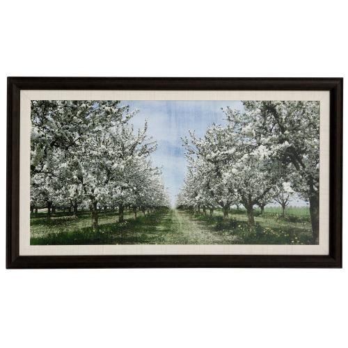 Style Craft - SPRING  46in w X 26in ht  Made in USA  Textured Framed Print