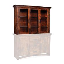 "B&O Railroade Trestle Bridge Closed Hutch Top, 64""w, Plain Glass"
