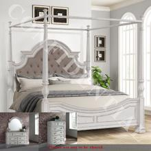 See Details - Queen Canopy Bed, Dresser & Mirror, Chest