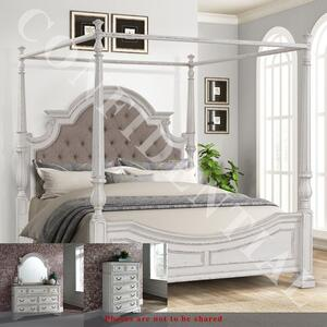 Liberty Furniture Industries - Queen Canopy Bed, Dresser & Mirror, Chest