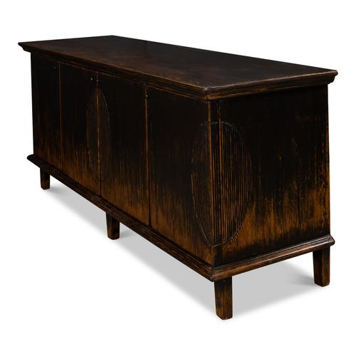 Dark Ribbon Sideboard With Four Doors