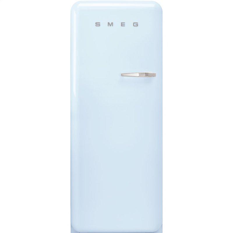 """24"""" retro-style fridge, Pastel blue, Left-hand hinge"""
